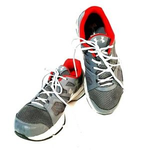 UNDER ARMOUR 12 Gray Red ZONE 2 Sneakers #1285703